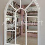 Modena Model Beyaz Renk Dekoratif Pencere Ayna-4