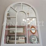 Modena Model Beyaz Renk Dekoratif Pencere Ayna-7