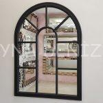 Modena Model Siyah Renk Dekoratif Pencere Ayna-1