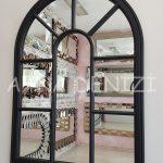 Modena Model Siyah Renk Dekoratif Pencere Ayna-10