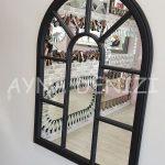 Modena Model Siyah Renk Dekoratif Pencere Ayna-11