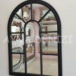 Modena Model Siyah Renk Dekoratif Pencere Ayna-12
