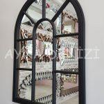 Modena Model Siyah Renk Dekoratif Pencere Ayna-15