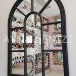 Modena Model Siyah Renk Dekoratif Pencere Ayna-16