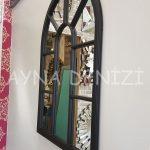 Modena Model Siyah Renk Dekoratif Pencere Ayna-17
