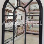 Modena Model Siyah Renk Dekoratif Pencere Ayna-20