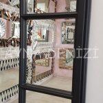 Modena Model Siyah Renk Dekoratif Pencere Ayna-21