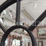 Modena Model Siyah Renk Dekoratif Pencere Ayna-22