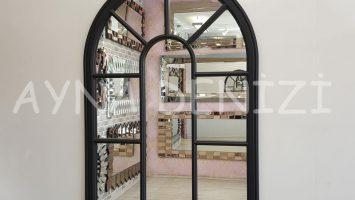 Modena Model Siyah Renk Dekoratif Pencere Ayna