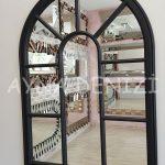 Modena Model Siyah Renk Dekoratif Pencere Ayna-4