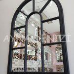 Modena Model Siyah Renk Dekoratif Pencere Ayna-5