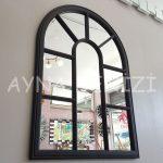 Modena Model Siyah Renk Dekoratif Pencere Ayna-6