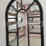 Modena Model Siyah Renk Dekoratif Pencere Ayna-7