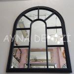 Modena Model Siyah Renk Dekoratif Pencere Ayna-8