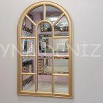 Padova Model Altın Renk Dekoratif Pencere Ayna-1