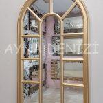 Padova Model Altın Renk Dekoratif Pencere Ayna-10