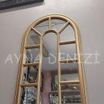 Padova Model Altın Renk Dekoratif Pencere Ayna-15