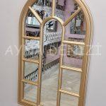 Padova Model Altın Renk Dekoratif Pencere Ayna-16