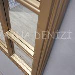 Padova Model Altın Renk Dekoratif Pencere Ayna-21