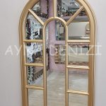 Padova Model Altın Renk Dekoratif Pencere Ayna-7