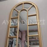 Padova Model Altın Renk Dekoratif Pencere Ayna-8