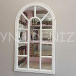 Padova Model Beyaz Renk Dekoratif Pencere Ayna-1