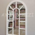 Padova Model Beyaz Renk Dekoratif Pencere Ayna-10