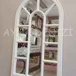 Padova Model Beyaz Renk Dekoratif Pencere Ayna-13