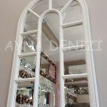 Padova Model Beyaz Renk Dekoratif Pencere Ayna-14
