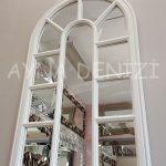 Padova Model Beyaz Renk Dekoratif Pencere Ayna-16
