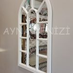 Padova Model Beyaz Renk Dekoratif Pencere Ayna-18
