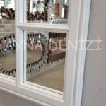 Padova Model Beyaz Renk Dekoratif Pencere Ayna-23