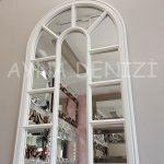 Padova Model Beyaz Renk Dekoratif Pencere Ayna-7