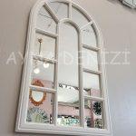 Padova Model Beyaz Renk Dekoratif Pencere Ayna-8
