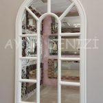 Padova Model Beyaz Renk Dekoratif Pencere Ayna-9