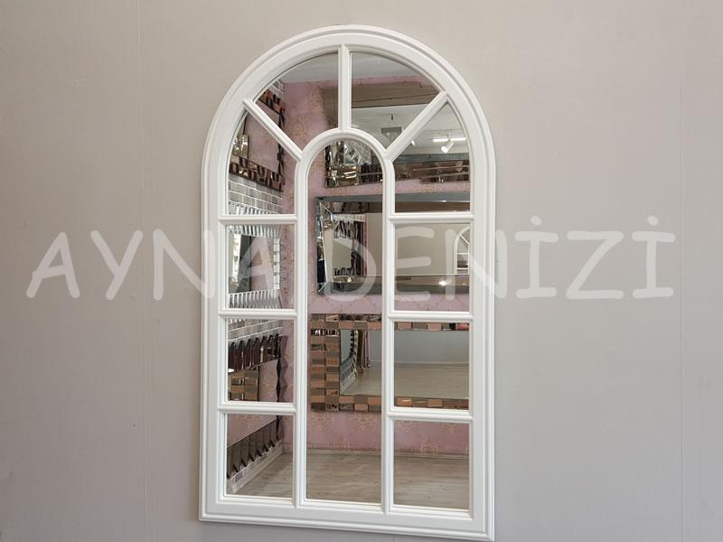 Padova Model Beyaz Renk Dekoratif Pencere Ayna