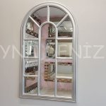 Padova Model Gümüş Renk Dekoratif Pencere Ayna-1