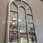 Padova Model Gümüş Renk Dekoratif Pencere Ayna-10