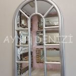 Padova Model Gümüş Renk Dekoratif Pencere Ayna-12