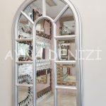 Padova Model Gümüş Renk Dekoratif Pencere Ayna-2