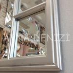 Padova Model Gümüş Renk Dekoratif Pencere Ayna-21