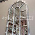 Padova Model Gümüş Renk Dekoratif Pencere Ayna-3