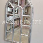 Padova Model Gümüş Renk Dekoratif Pencere Ayna-4