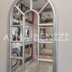 Padova Model Gümüş Renk Dekoratif Pencere Ayna-5