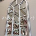 Padova Model Gümüş Renk Dekoratif Pencere Ayna-8