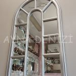 Padova Model Gümüş Renk Dekoratif Pencere Ayna-9