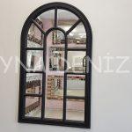 Padova Model Siyah Renk Dekoratif Pencere Ayna-1