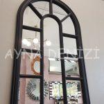 Padova Model Siyah Renk Dekoratif Pencere Ayna-10