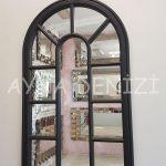 Padova Model Siyah Renk Dekoratif Pencere Ayna-11