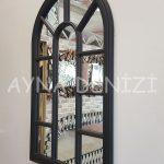Padova Model Siyah Renk Dekoratif Pencere Ayna-12